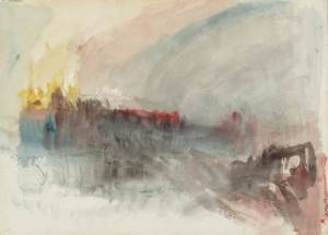 Turner, The Burning of the Houses of Lords and Commons, 1834, watercolour study (Tate Gallery, London)